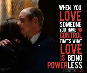 james spader, megan boone, and quote image