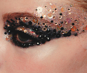 beauty, glitter, and black image