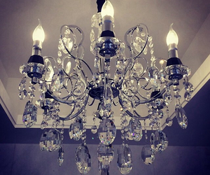 bling, chandelier, and crystal image