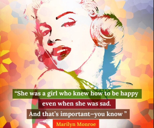 inspirational, Marilyn Monroe, and quote image