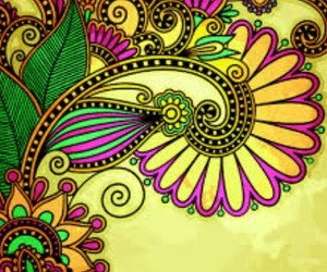 African, flowers, and background image