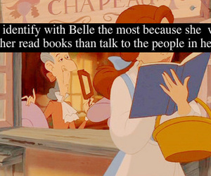 book, disney, and belle image
