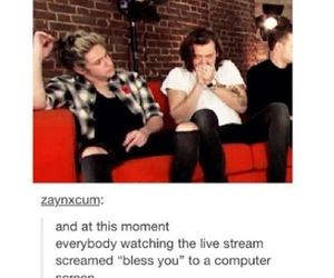 livestream, Harry Styles, and one direction image