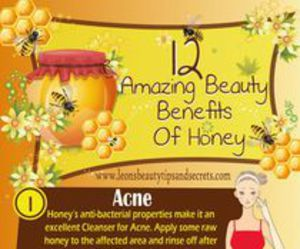 beauty, honey, and infographic image
