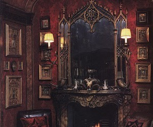 gothic, interior, and room image