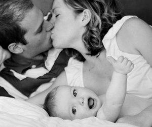 kiss, baby, and couple image