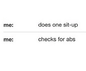 abs, funny, and sit ups image