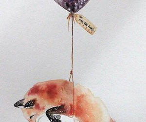 balloon, Flying, and fox image