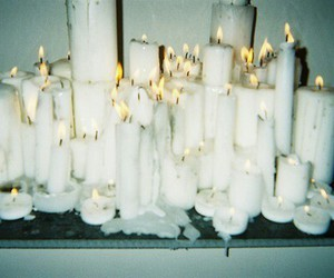candles, grunge, and lights image