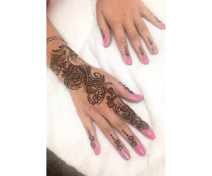 arabic, Dubai, and henna image