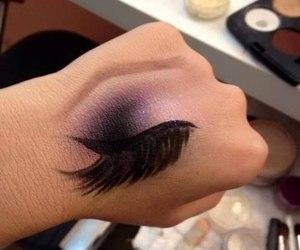 makeup, hand, and eye image