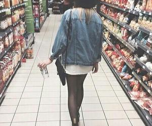 girl, grunge, and black image