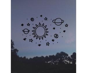 grunge, stars, and sun image