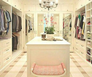 closet, walk in closet, and dream closets image