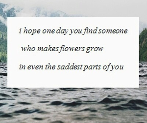 sad, quote, and flowers image