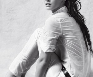 beauty, black and white, and megan fox image