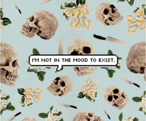 skull, grunge, and mood image