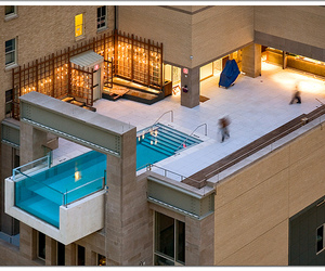 pool, house, and swimming pool image