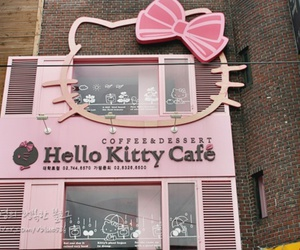 cafe, dream destination, and hello kitty image