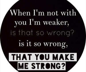 strong, Lyrics, and one direction image