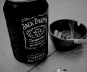 cigarette, alcohol, and jack daniels image