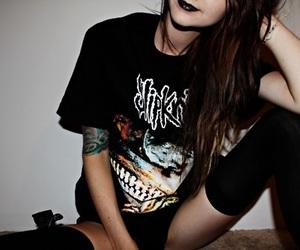 girl, slipknot, and black and white image