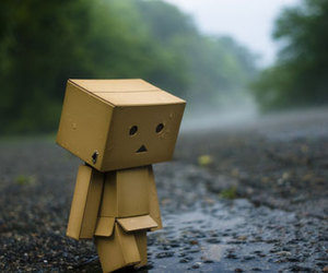 sad, rain, and alone image