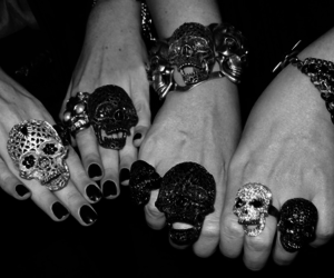 skull, rings, and ring image