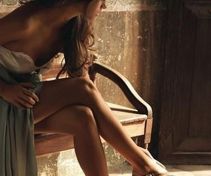 alone, brunette, and girl image