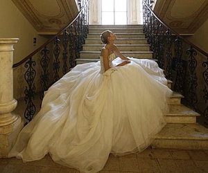 beautiful, bridal gown, and bride image