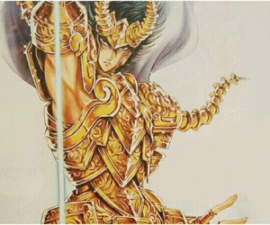 excalibur, shura de capricornio, and manga image
