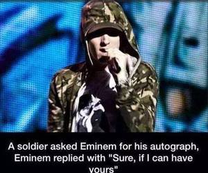 eminem, soldier, and respect image