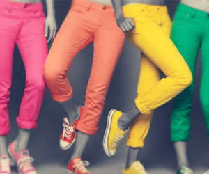 jeans, converse, and colorful image