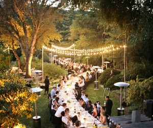 wedding, lights, and dinner image
