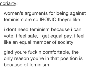 feminism, post, and tumblr image