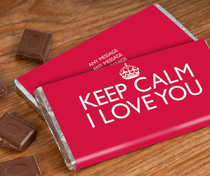 chocolate, keep calm, and food image