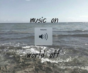 music, world off, and music on image