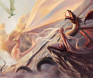 dragon, daenerys, and game of thrones image
