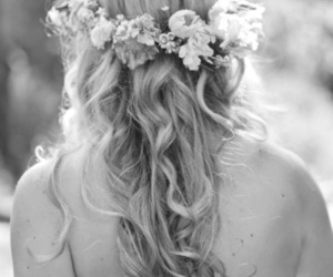 flowers, hair, and blonde image