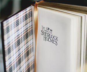 book and sherlock holmes image