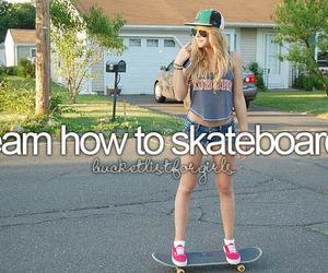 skateboard, girl, and bucket list image