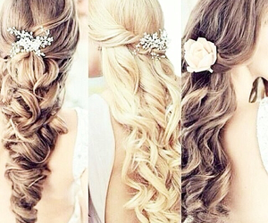 amazing, cute, and weding hair image