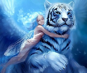 blue, tiger, and fairy image