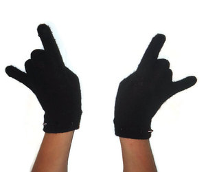 black, winter, and gloves image