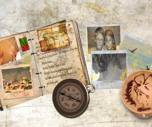 coffee, pictures, and diary image