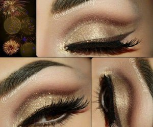 makeup and gold image