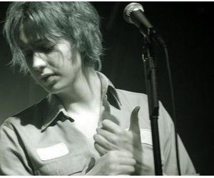 julian casablancas and black and white image