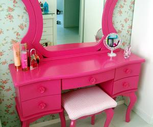 charming, dressing table, and makeup image