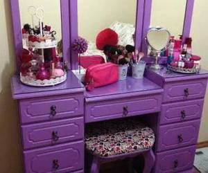 decor, dressing table, and makeup image