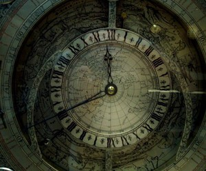 antique, clock, and map image